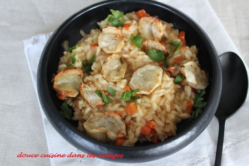Risotto aux topinambours
