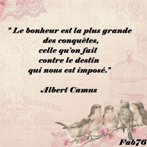 citation d 39 albert camus sur le bonheur contre le destin bonheur de lire. Black Bedroom Furniture Sets. Home Design Ideas