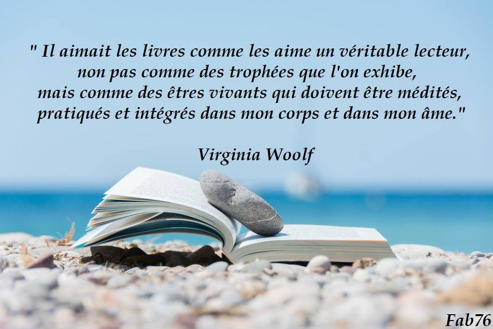 Citation de Virginia Woolf sur l'amour des livres