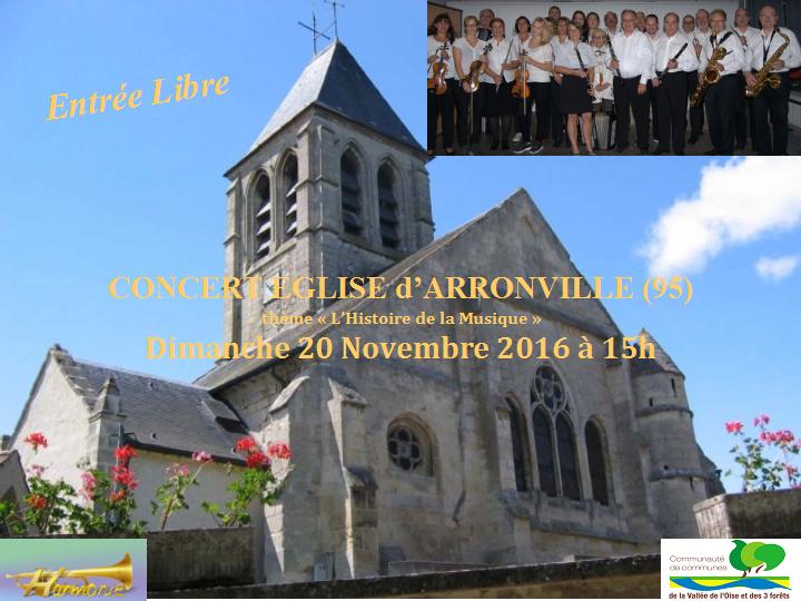 Concert Harmonie de la Vallée de l'Oise et des trois forêts à Arronville (95)
