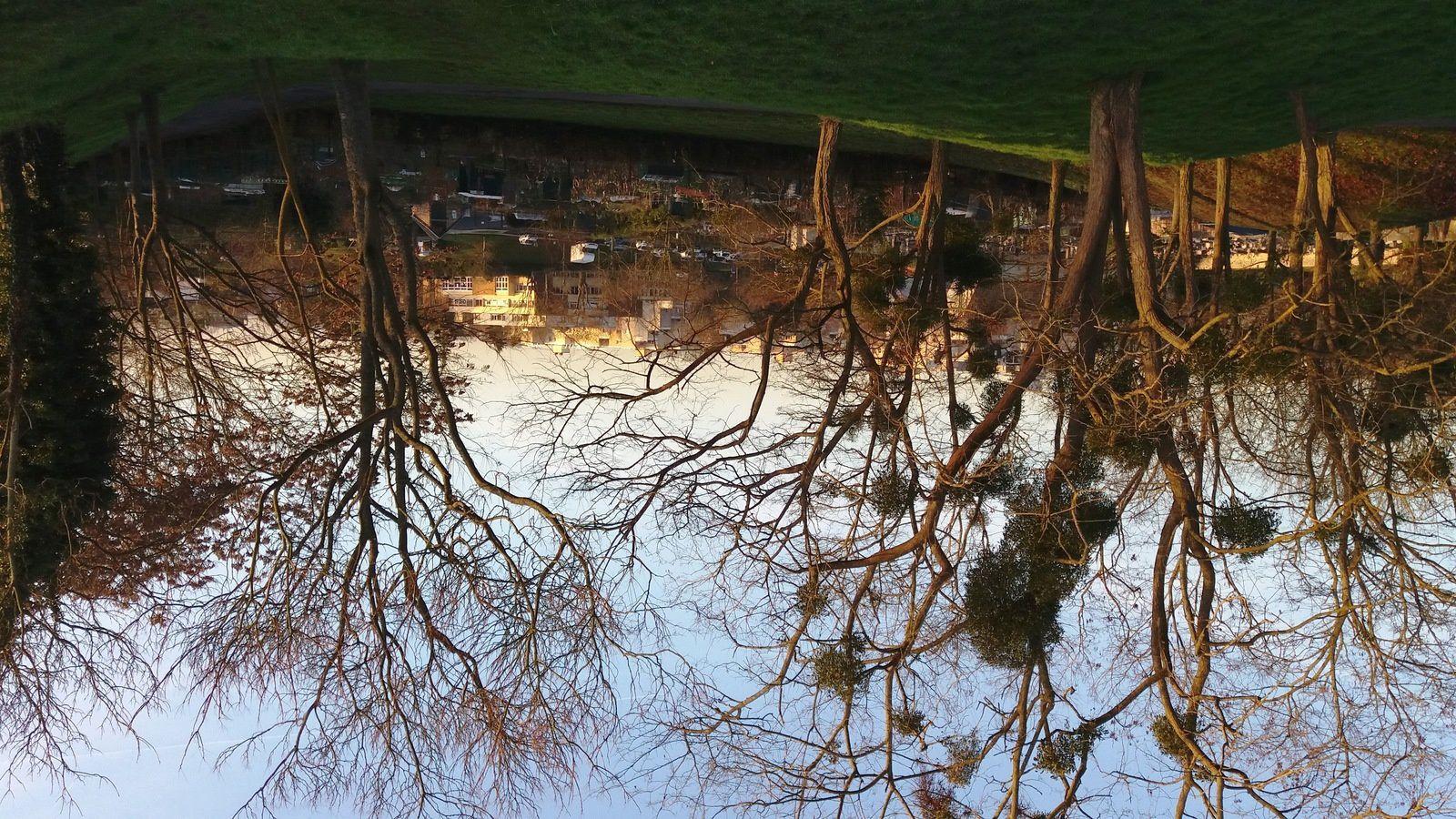 Beau point de vue d'hiver depuis l'allée de Bellevue à Cergy Village