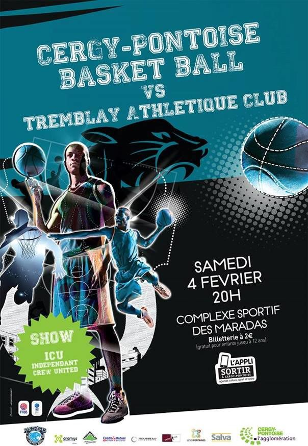 Basket BALL : Cergy-Pontoise contre Tremblay