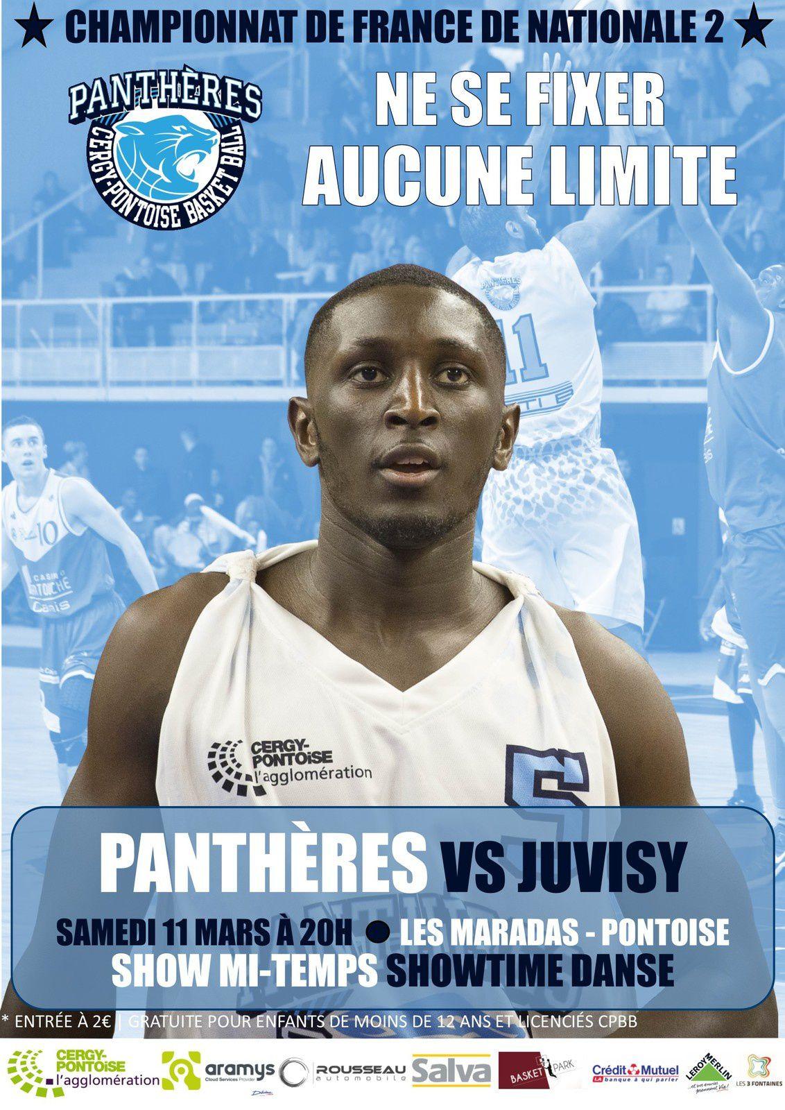 Basket : les Panthères de Cergy Pontoise reçoivent Juvisy