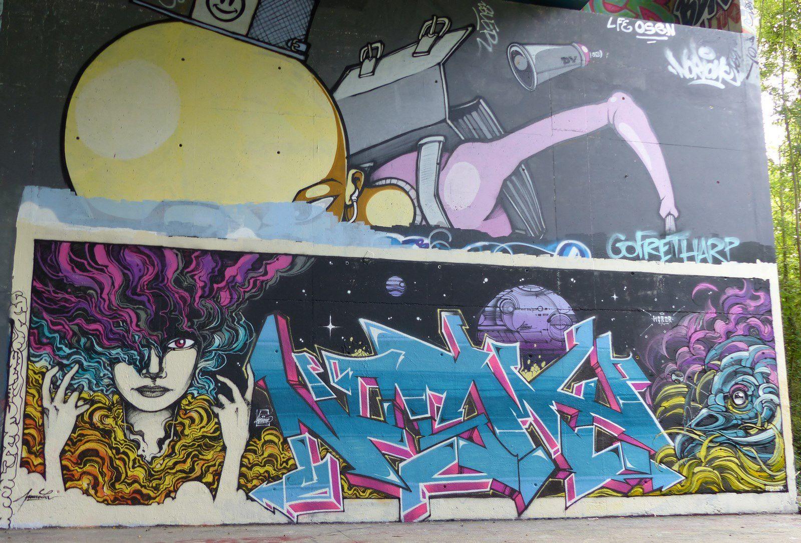 Sous le pont de Cergy : Street art