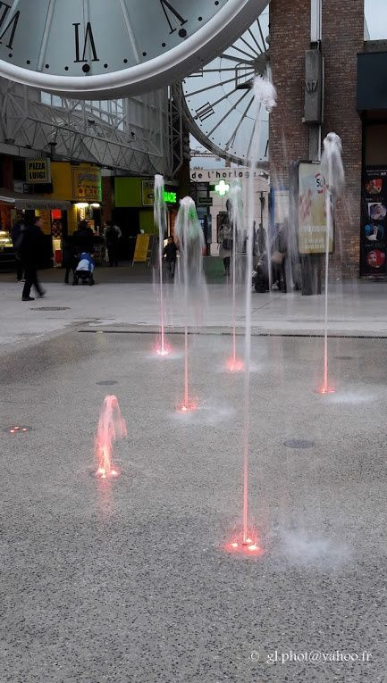 Les nouvelles fontaines  de la gare de Cergy Saint-Christophe