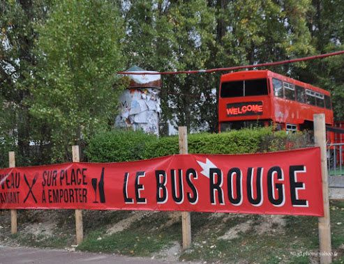 Le bus rouge à Cergy