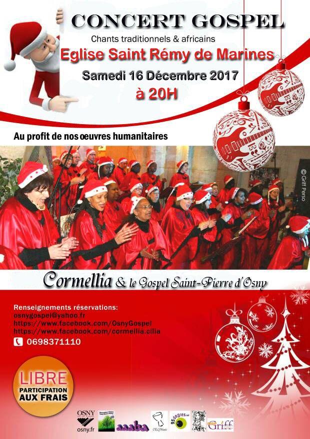 Prochains concerts de la chorale gospel Saint-Pierre-d'Osny à Marines et Pontoise