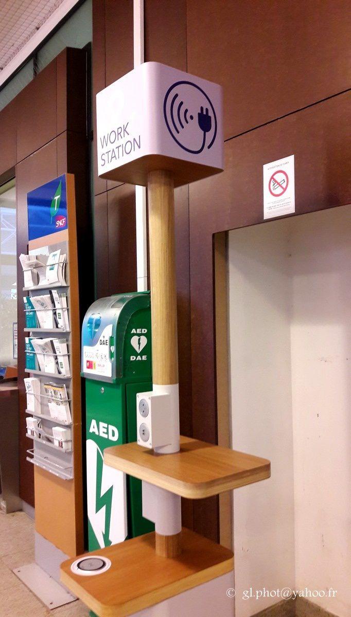 Bornes recharge smartphones, tablettes gare de Cergy Saint Christophe