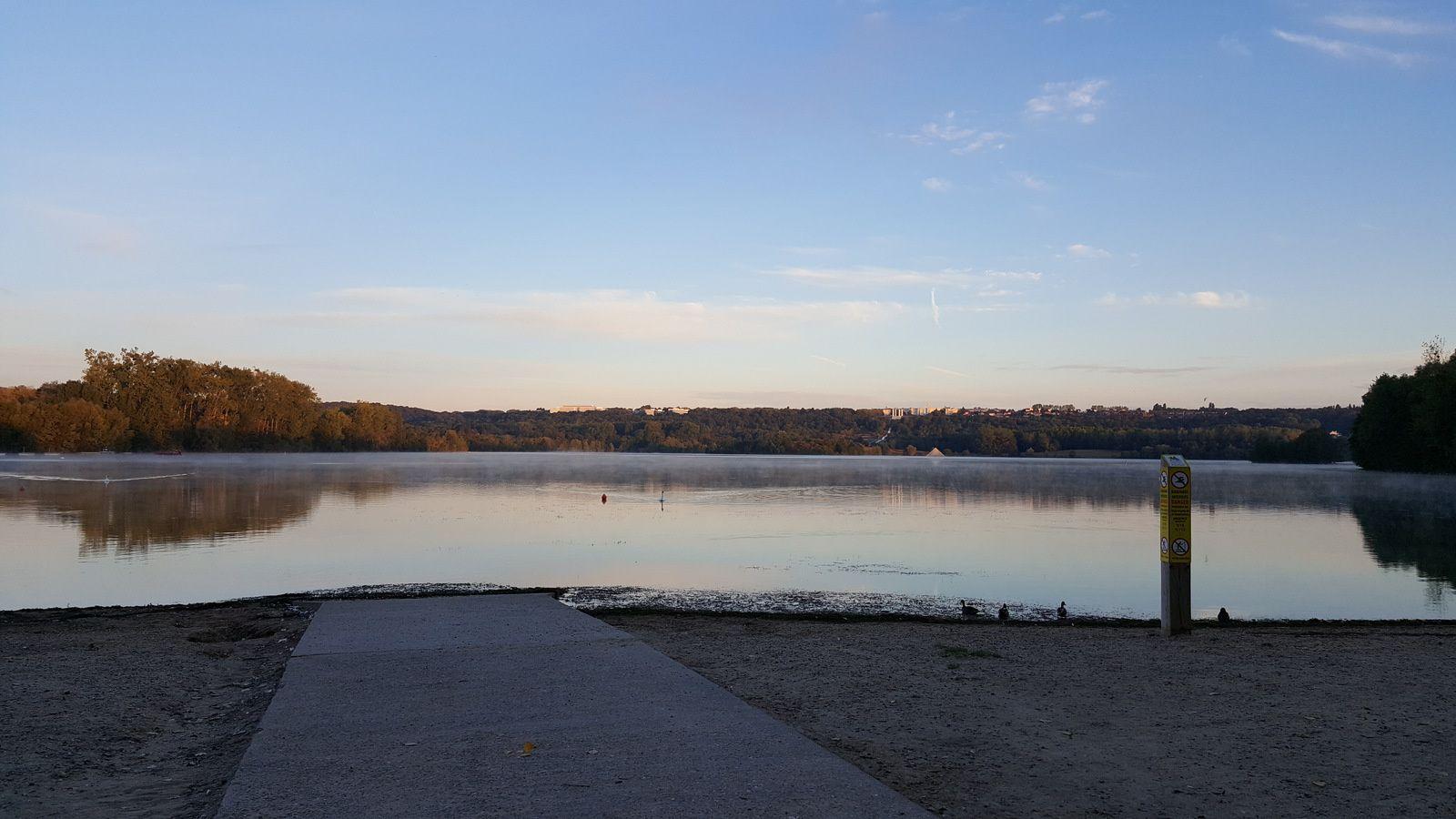 Lever de soleil sur les étangs de Cergy