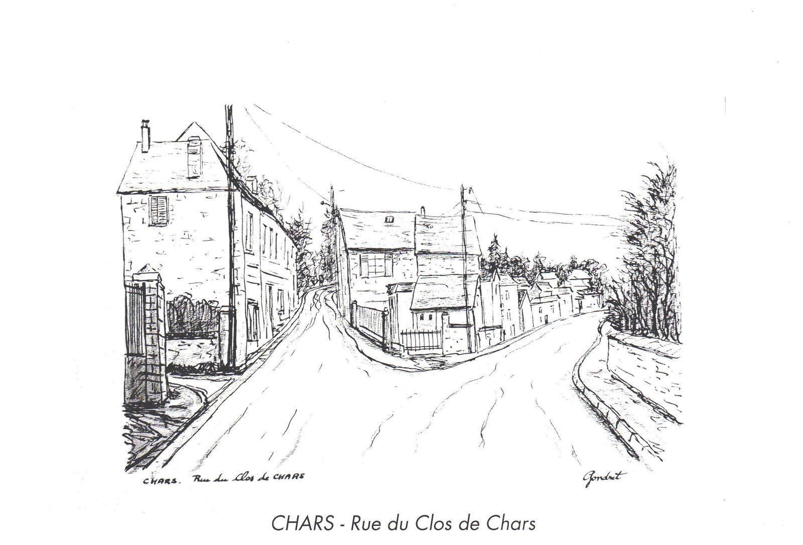 Expo dessins peintures sur le Vexin de Lucien Gondret à Chars