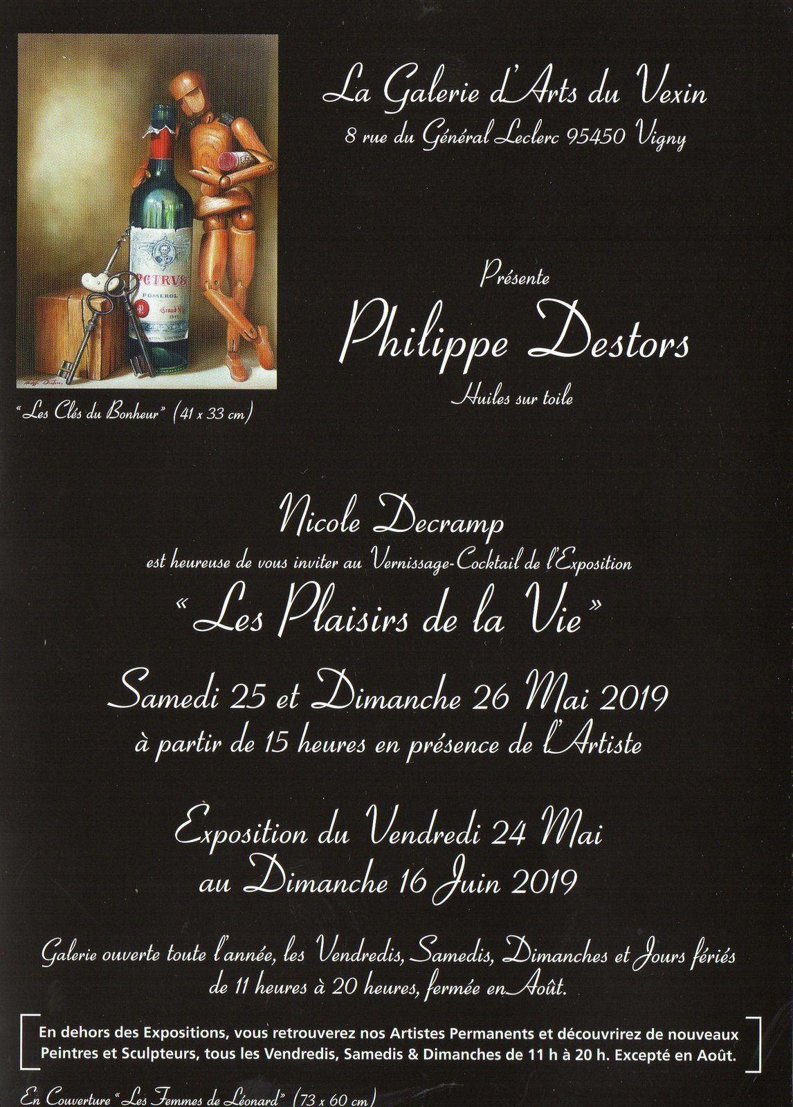 Exposition Philippe Destors à la Galerie du Vexin