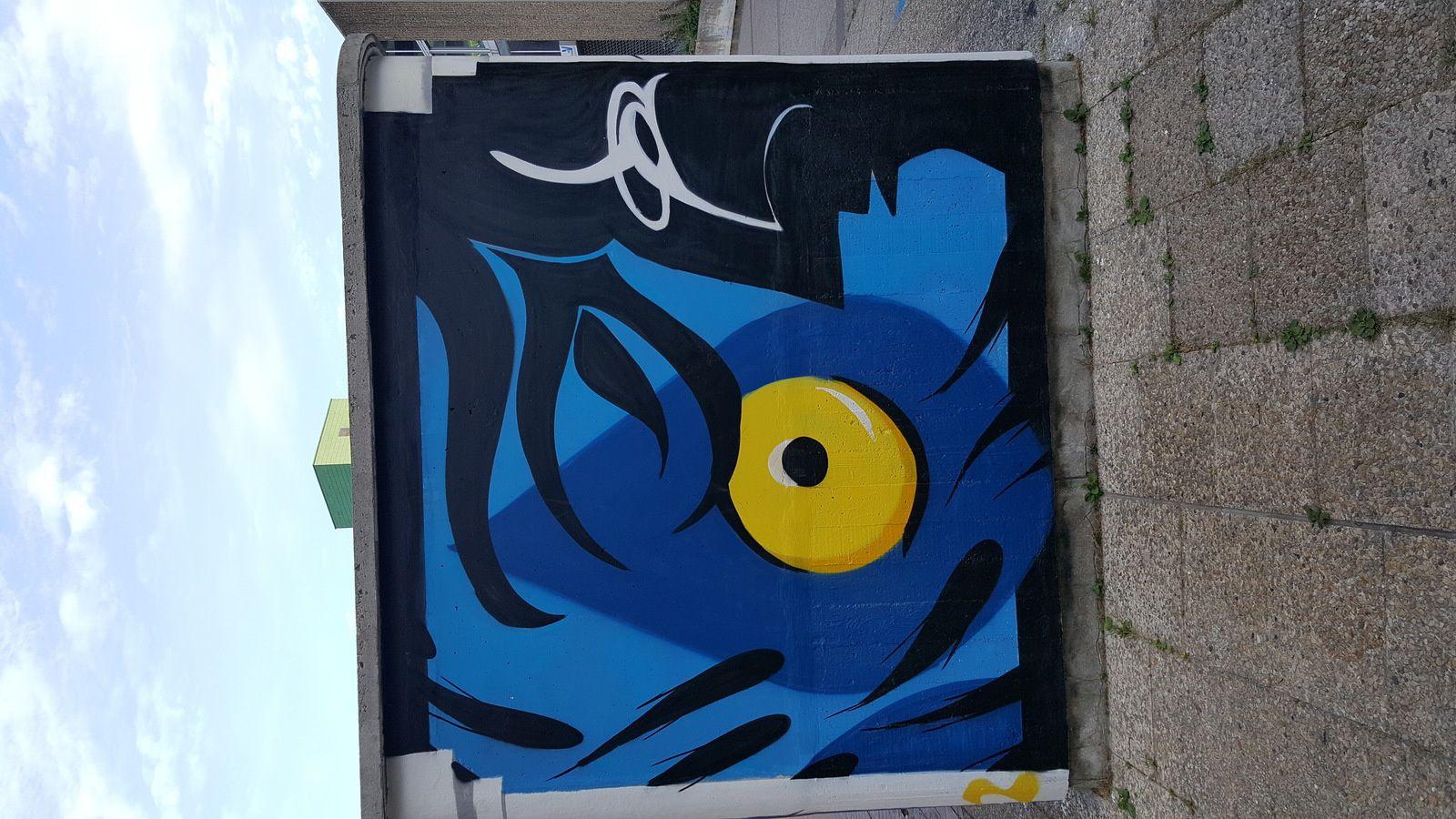 Street art sur le Parvis de la préfecture de Cergy