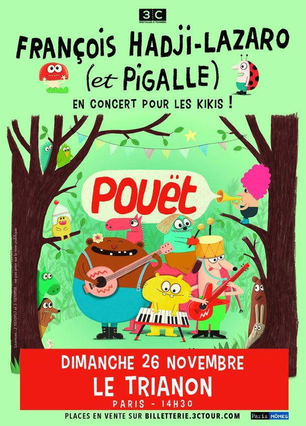 François Hadji-Lazaro et Pigalle en concert pour les kikis au Trianon le 26/11 / CHANSON MUSIQUE / ECOUTE