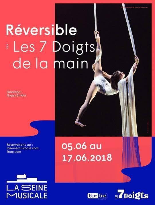 Les 7 doigts présente : Réversible - Du 5 au 17 juin à La Seine Musicale / THEATRE / ACTUALITE