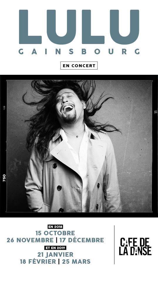 Lulu Gainsbourg, 5 concerts exceptionnels au Café de la Danse / ACTUALITE MUSICALE