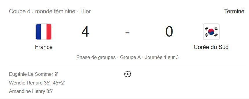 France-Corée du sud: Les Bleues lancent parfaitement leur Coupe du monde / SPORTS
