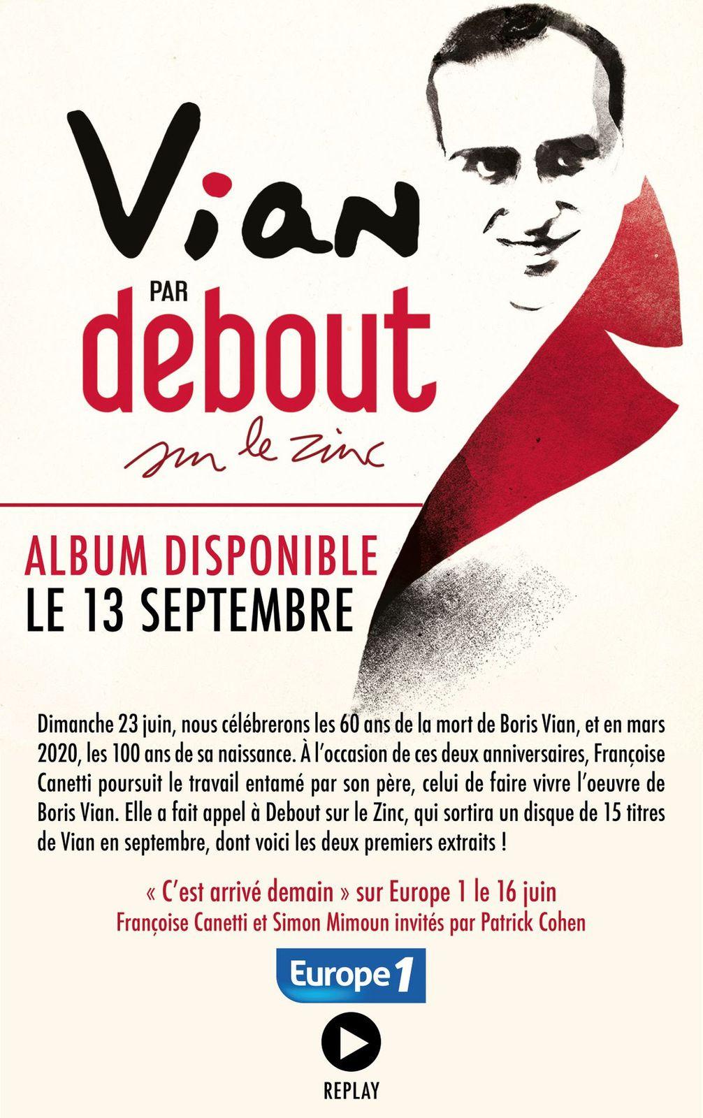 Vian par Debout sur le Zinc : 2 premiers titres disponibles !/ INFOS MUSICALES