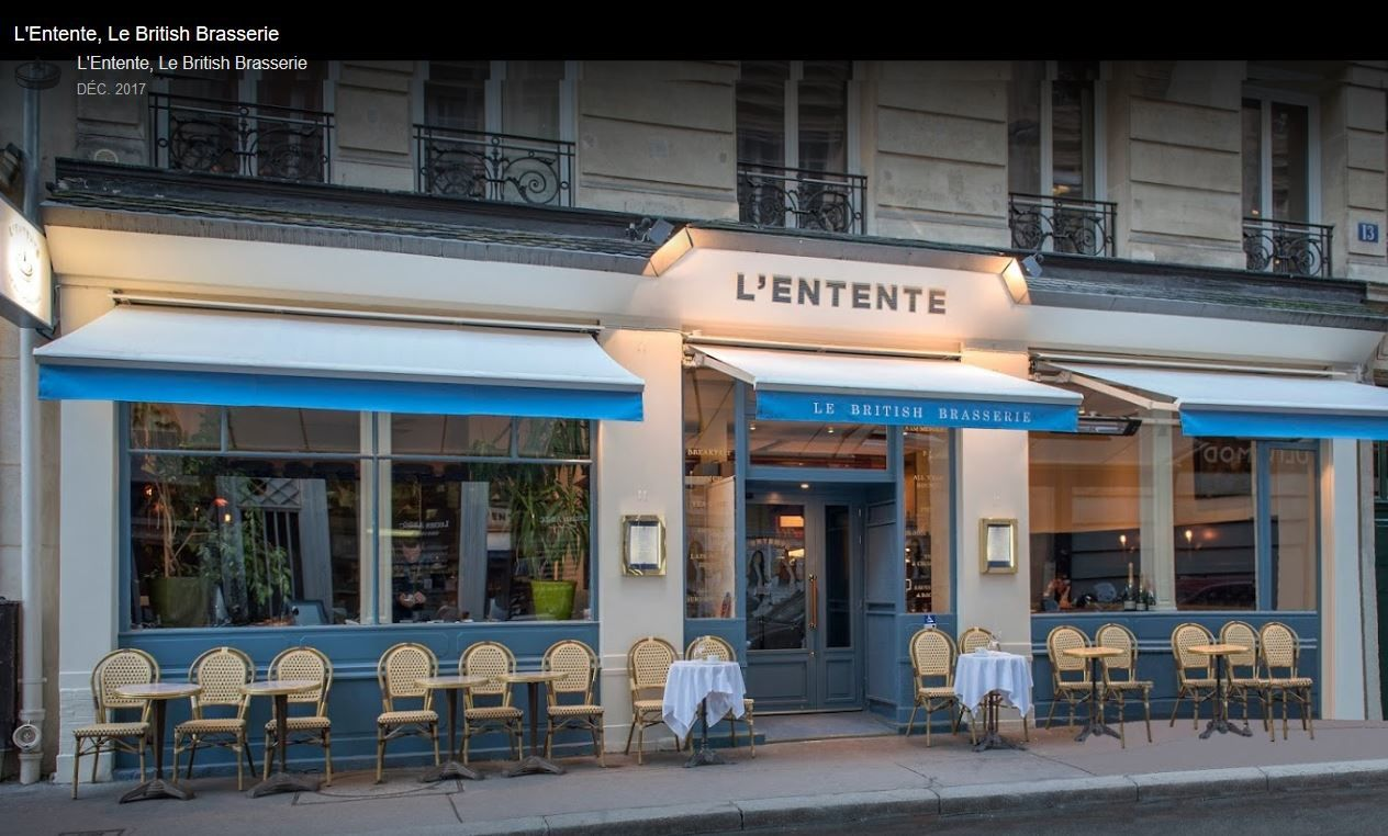 L'Entente, Le British Brasserie / RESTAURANT / PARIS / SUPERBE AMBIANCE