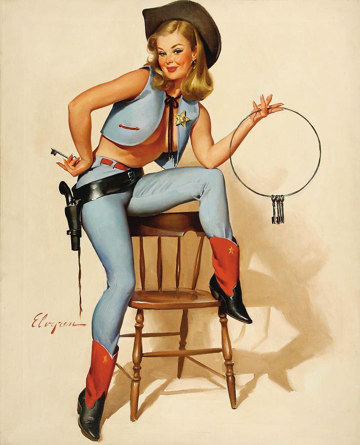 Gil Elvgren (Gillette Elvgren) est un peintre et illustrateur américain / ARTS PLASTIQUES