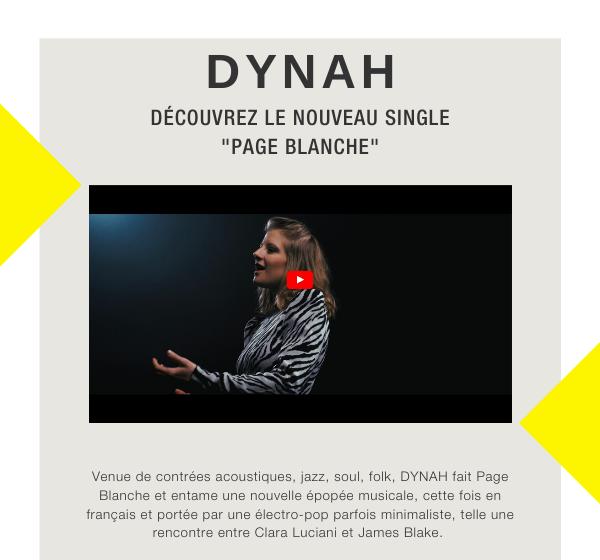 """DYNAH : découvrez le clip de """"Page Blanche"""" ! / ACTUALITE MUSICALE"""