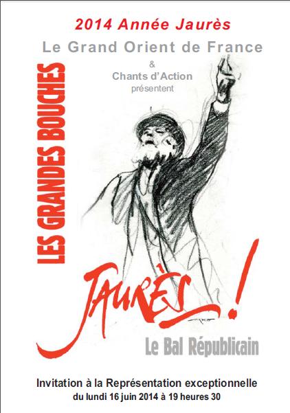 Le GODF célèbre Jean Jaurès le 16 juin 2014.