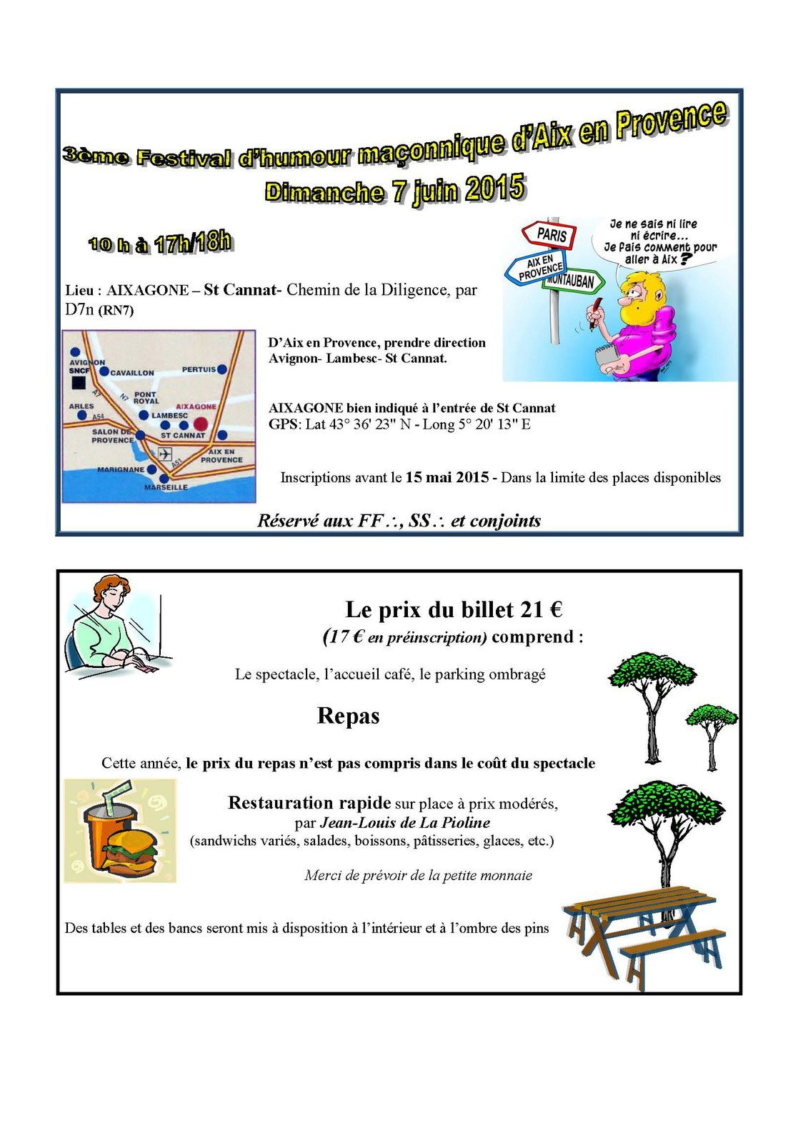 Festival d'Humour Maçonnique à Aix-en-Provence le 7 juin 2015.