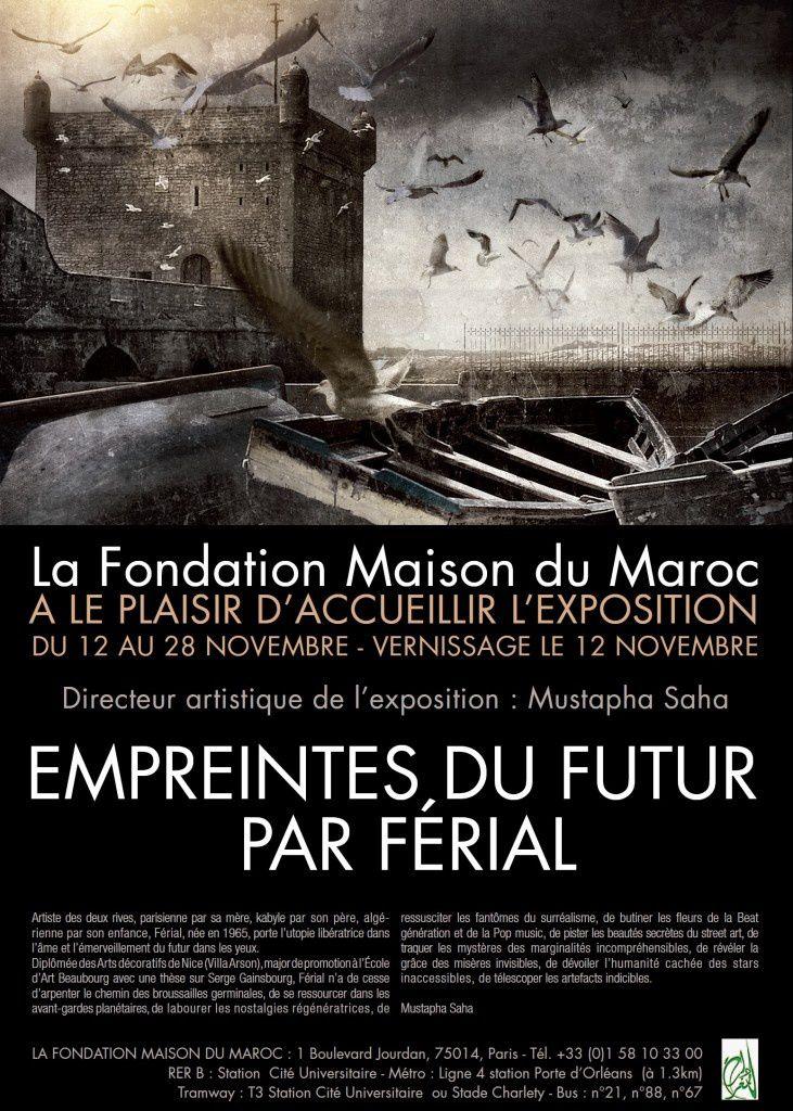 Expo Férial à la Fondation Maison du Maroc à Paris du 12 au 28 novembre 2015.