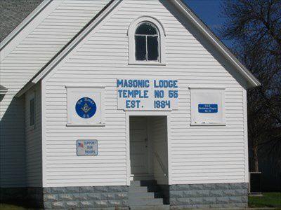 Le local de la loge Maçonnique de De Smet dans le Dakota du Sud. La Loge de Charles Ingalls.