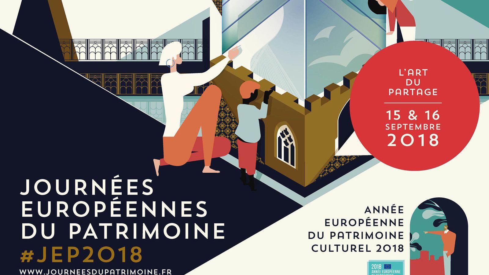 Journées du Patrimoine 2018 à la Grande Loge de France les 15 et 16 septembre.