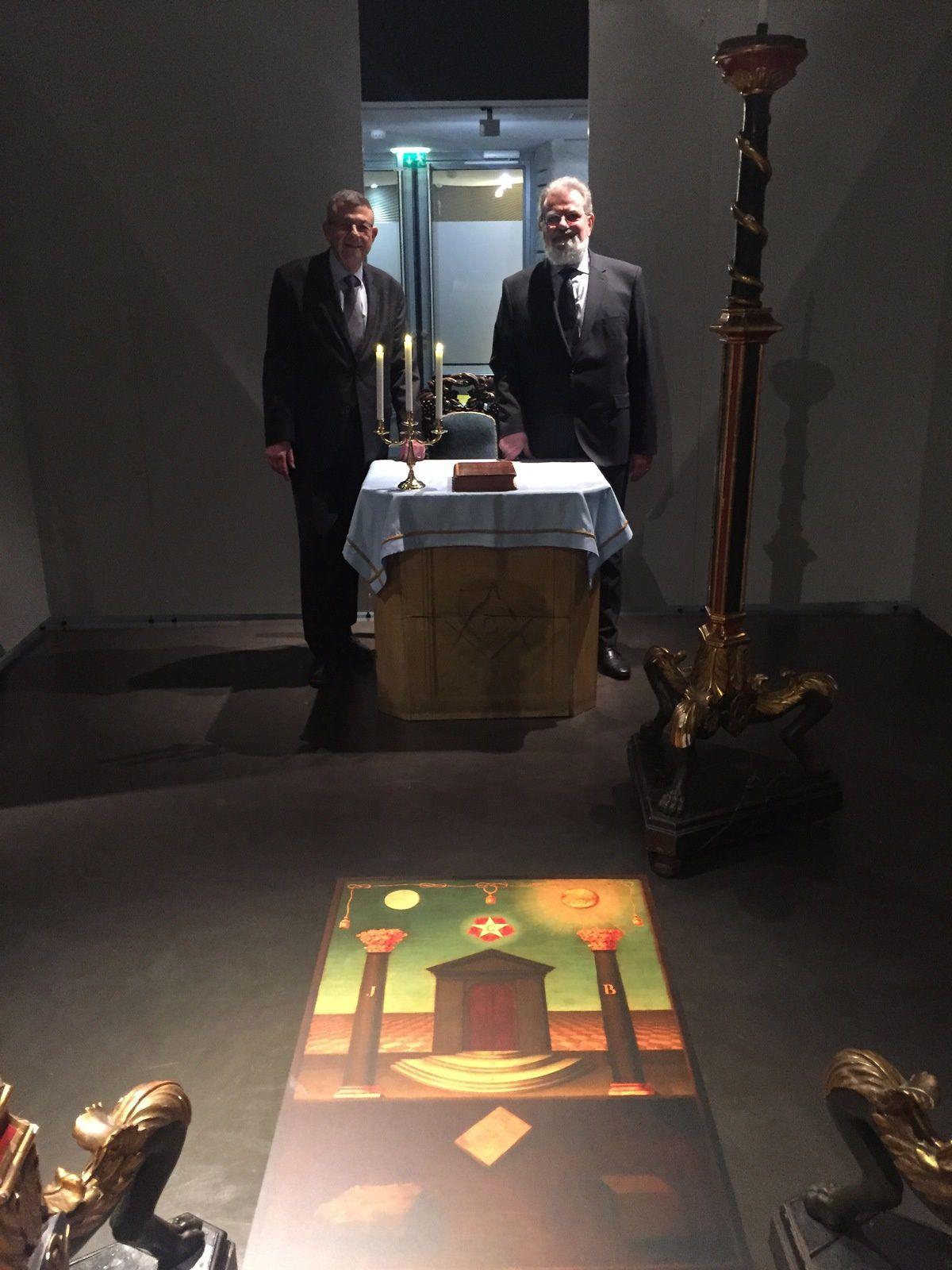 Alain Sberro Grand Prieur, et Pierre Mollier, Conservateur du Musée.