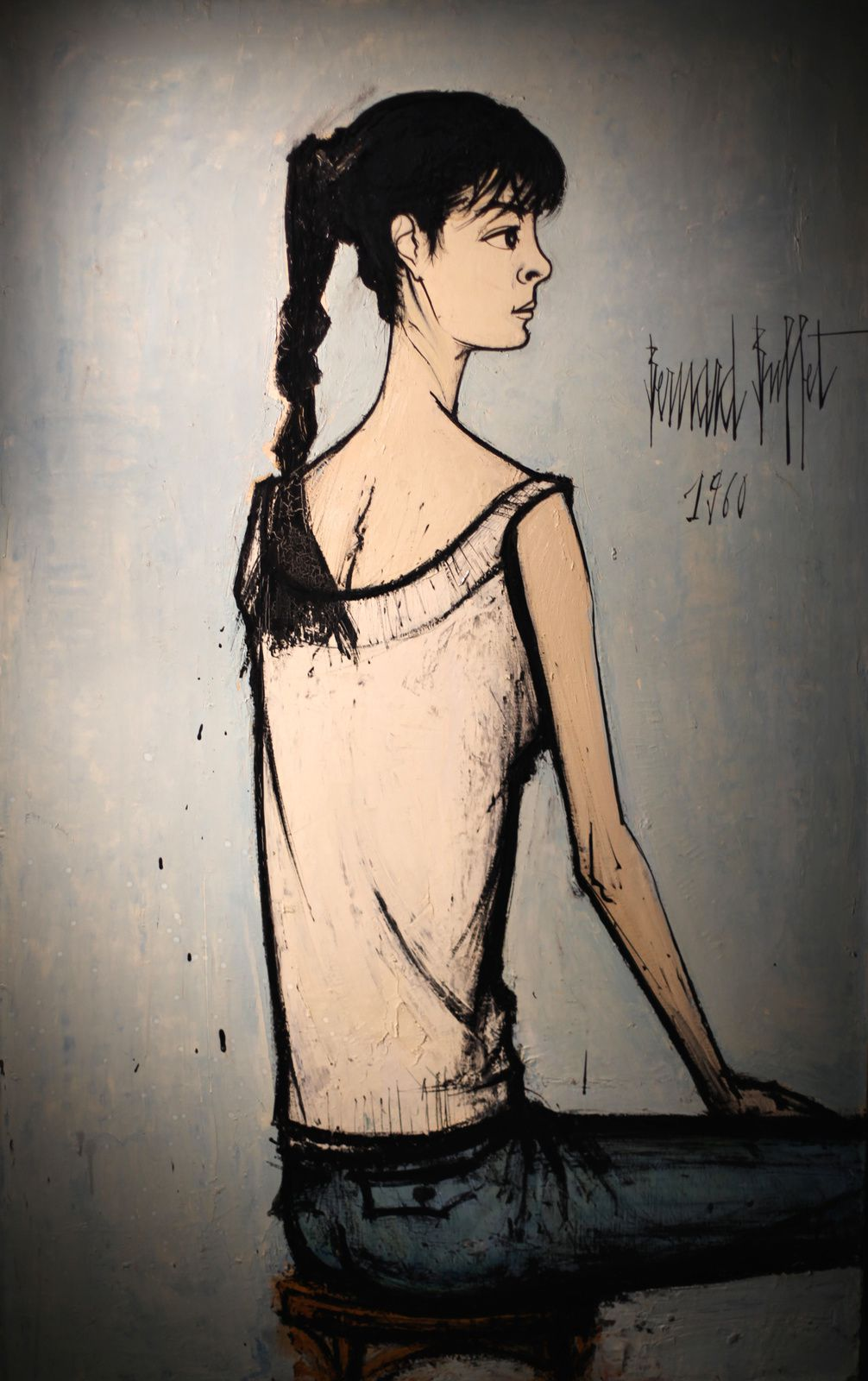 """Portraits d'Annabel- Annabel à la natte"", 1960 de Bernard BUFFET - Courtesy MAM © Photo Éric Simon"