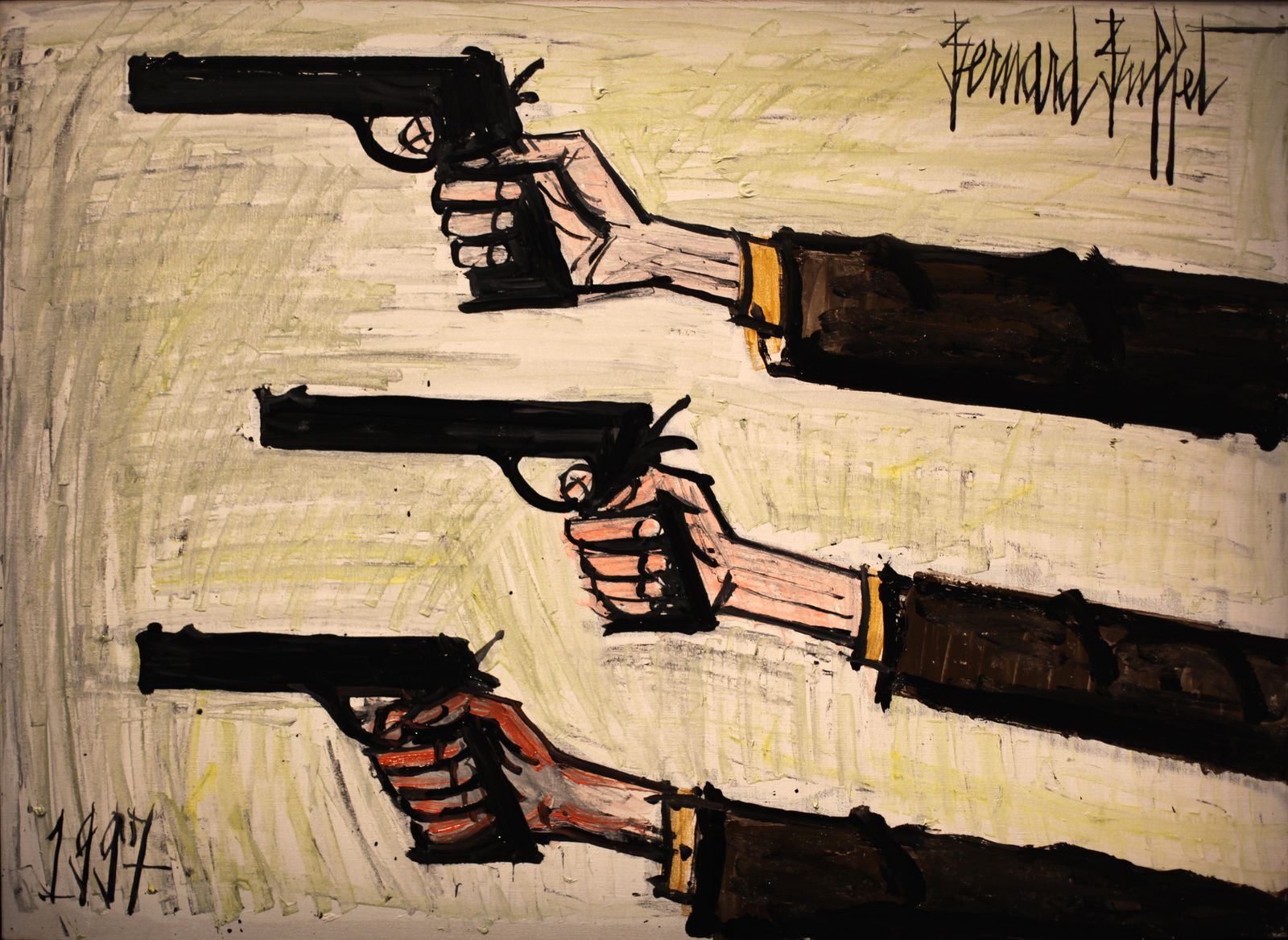 """Les Trois Rigolos"", 1997 de Bernard BUFFET - Courtesy Fonds de dotation B. Buffet © Photo Éric Simon"