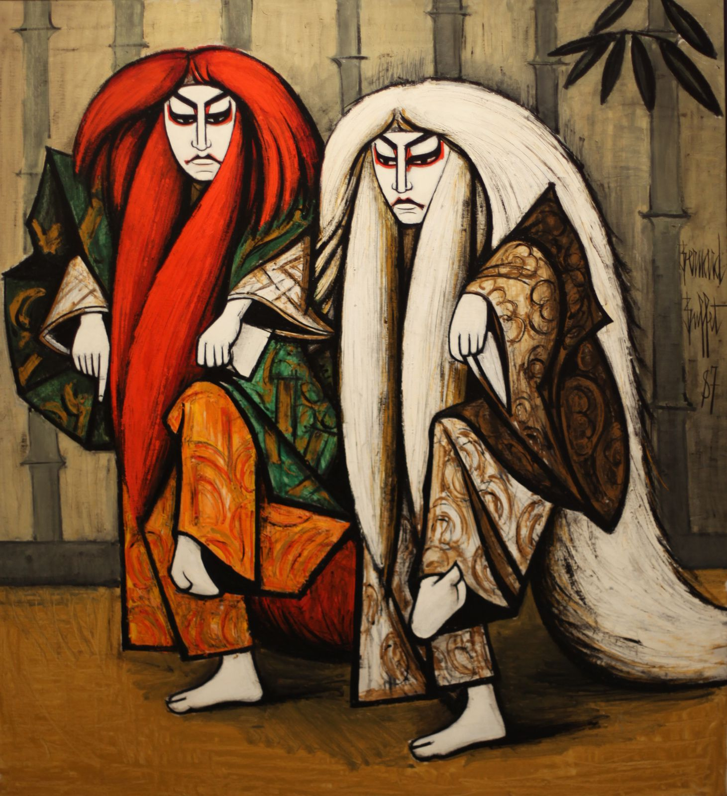 """KABUKI, Ren Jishi"", 1987 de Bernard BUFFET - Courtesy Fonds de dotation B. Buffet © Photo Éric Simon"