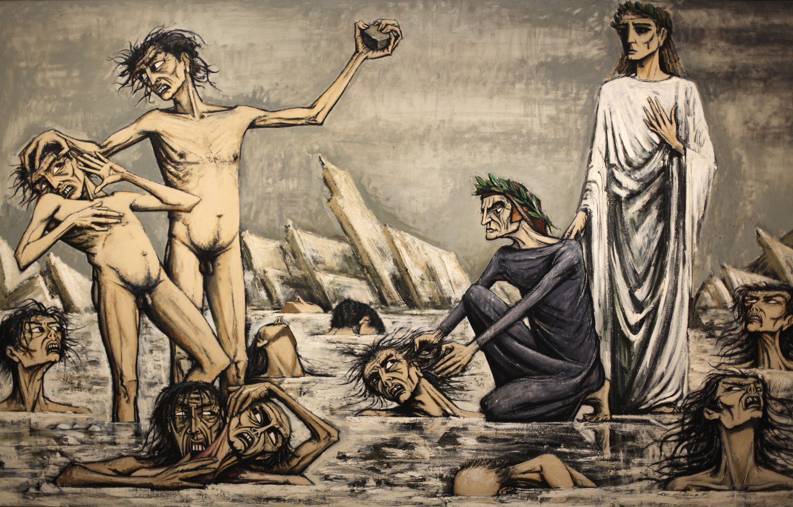 """L'enfer de Dante, Damnés pris dans les Glaces"", 1976 de Bernard BUFFET - Courtesy Fonds de dotation B. Buffet © Photo Éric Simon"