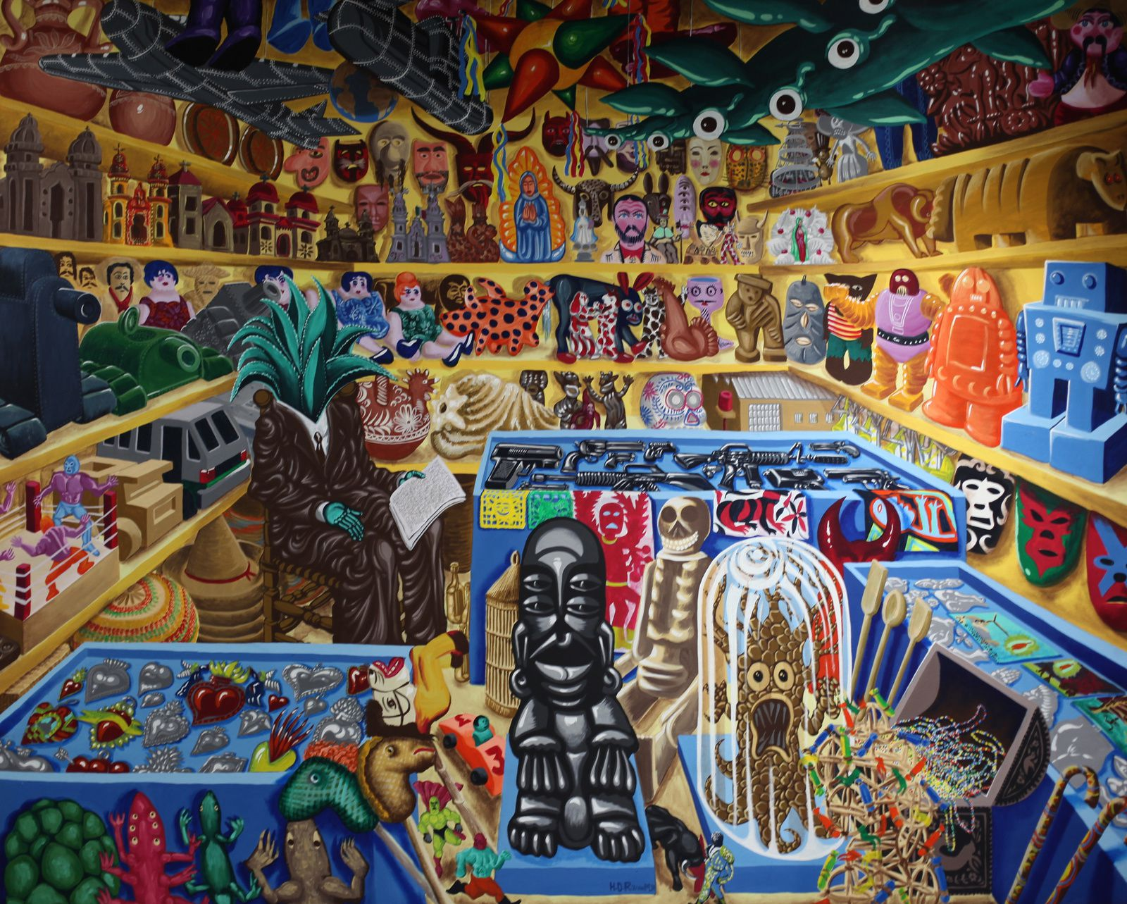 """Tienda del Senor MAGUEY, (MEXICO)"", 2000 d'Hervé DI ROSA - Courtesy AD Galerie, Montpellier © Photo Éric Simon"