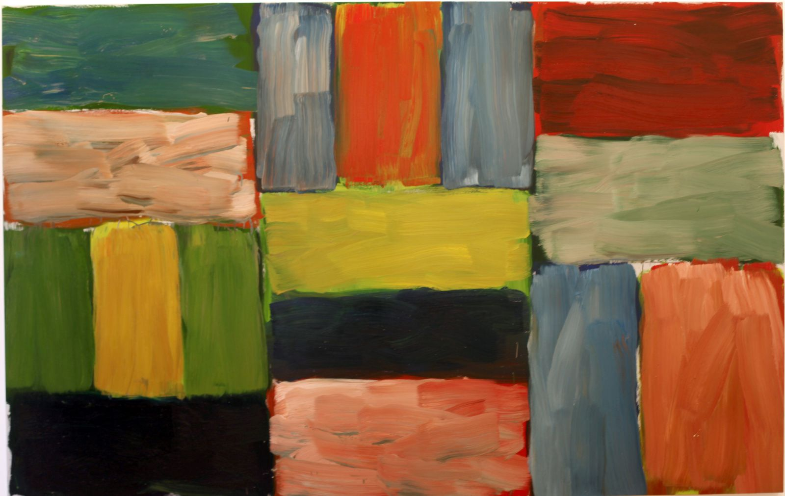Sean SCULLY - Courtesy Galerie Lelong © Photo Éric Simon