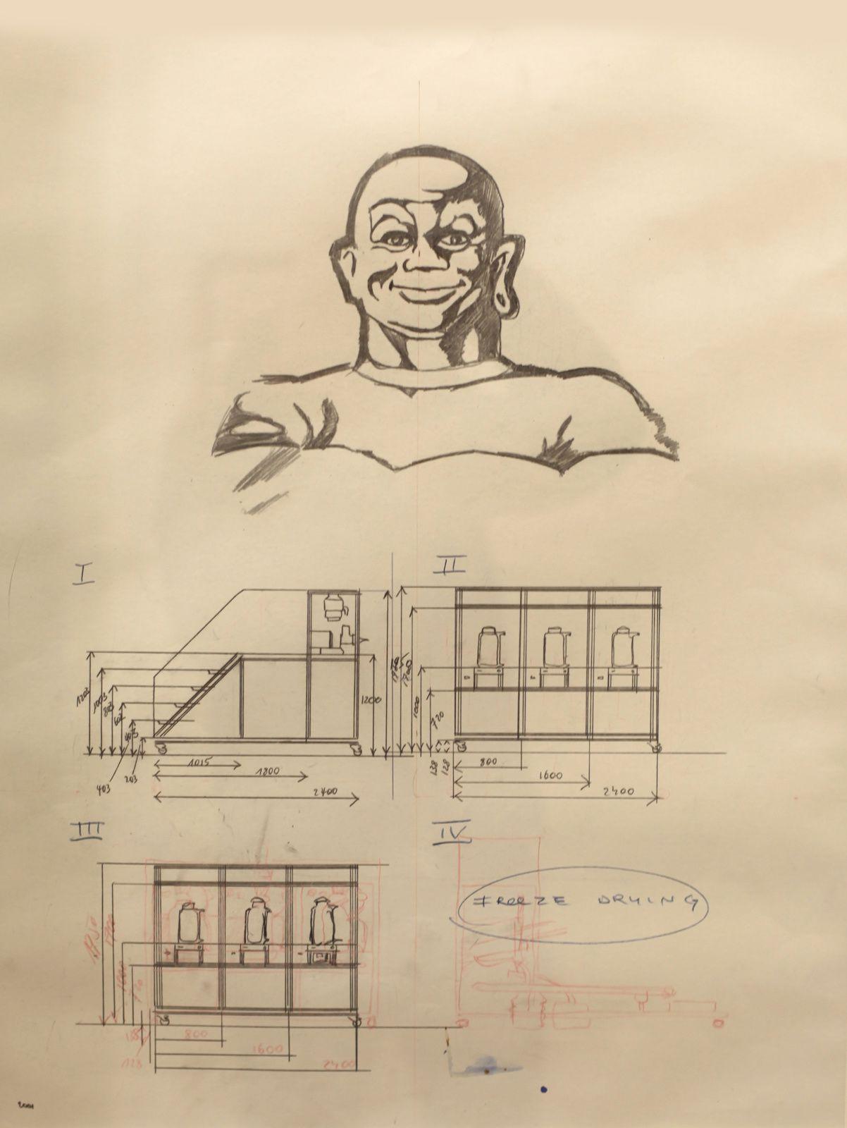 """Studies for Cloaca New and Improved"", 2000 de Wim DELVOYE - Courtesy Galerie Laurent Strouk © Photo Éric Simon"
