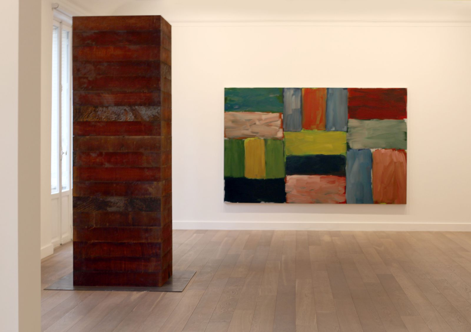 """Untitled (Tower)"", 2015 de Sean SCULLY - Courtesy Galerie Lelong © Photo Éric Simon"