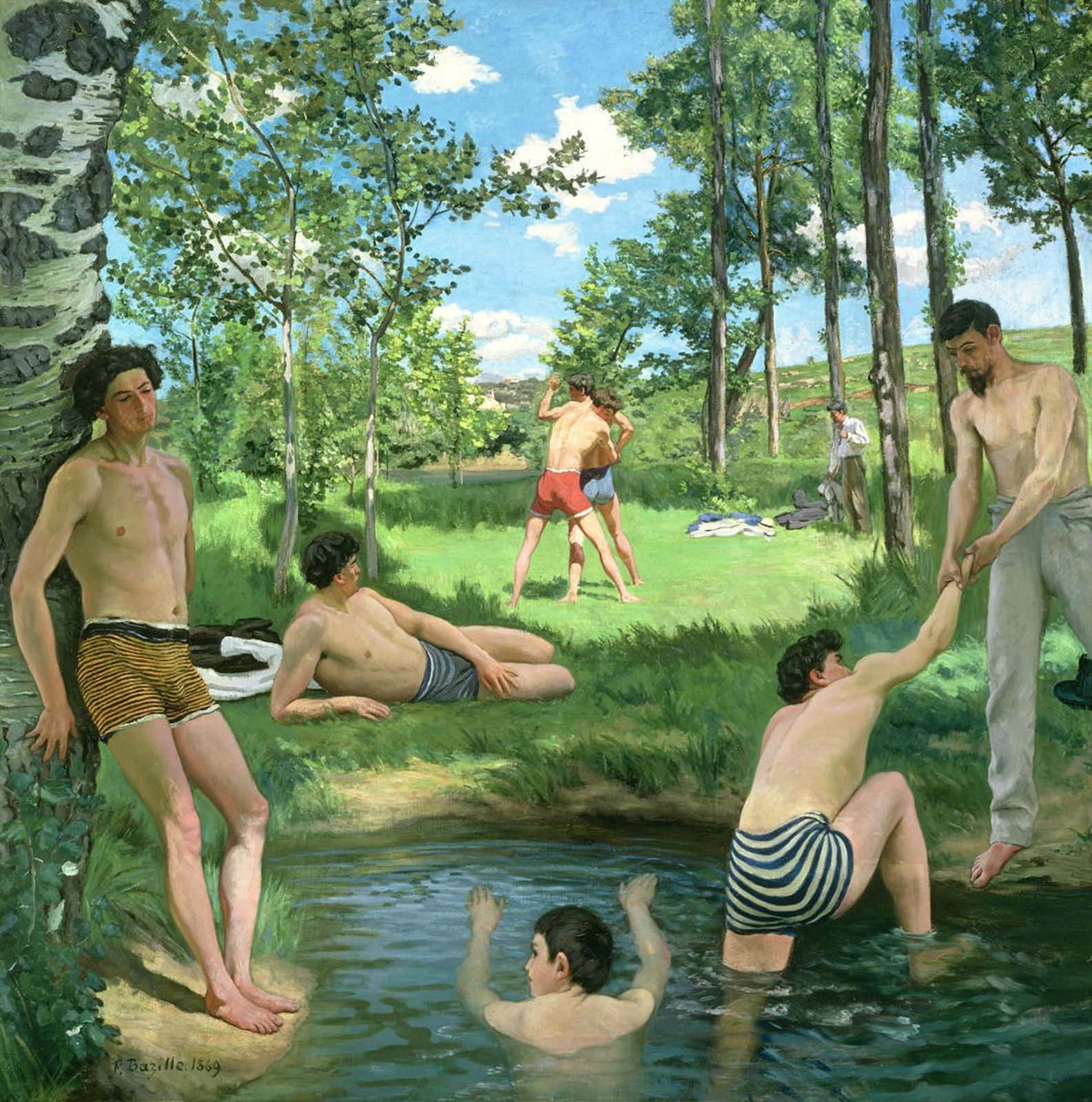 """Scène d'été"", 1869 de Frédéric BAZILLE - Courtesy Harvard University Art Museums Fogg Art Museum"