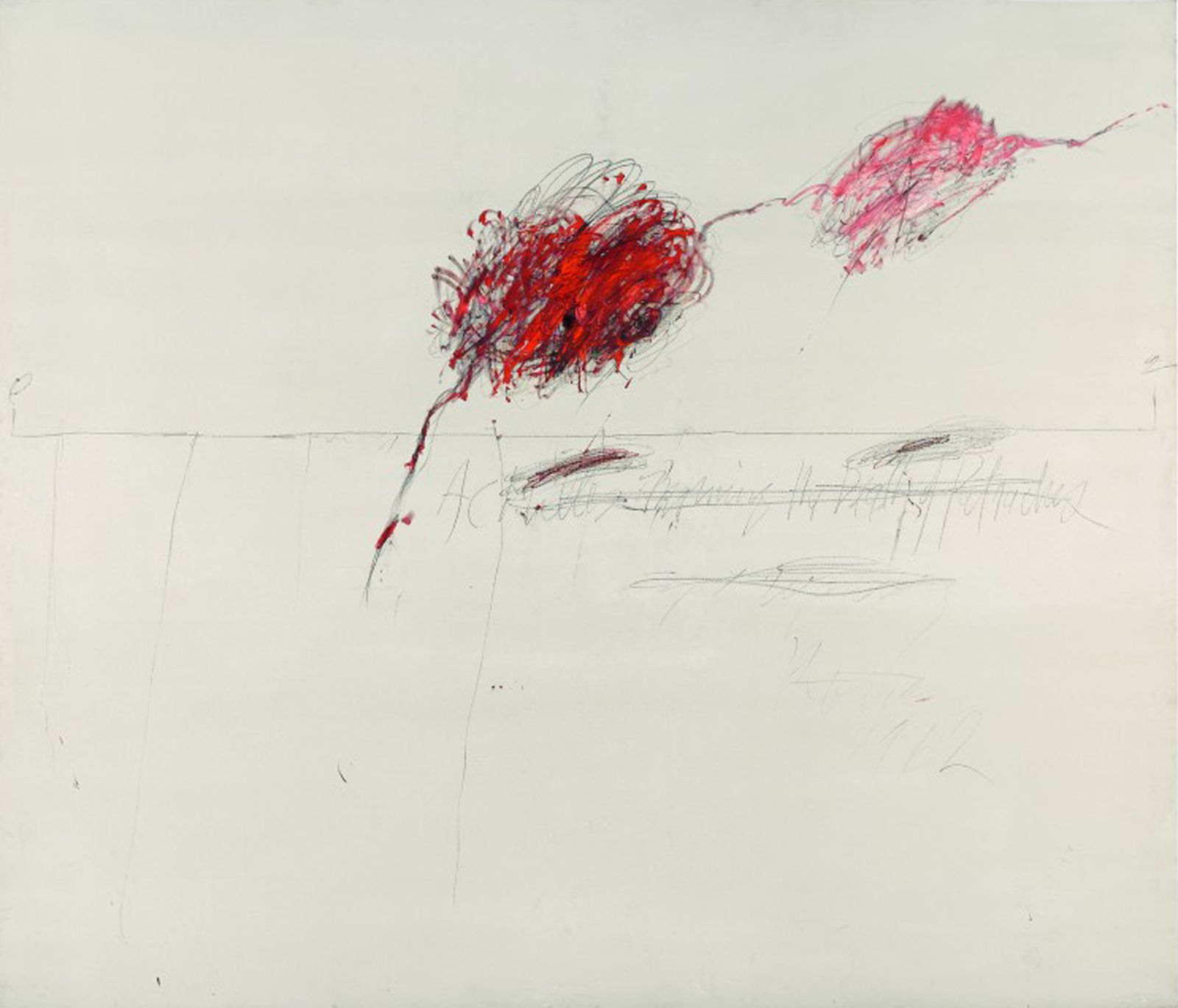 """Fifty Days at Iliam Shades of Achilles, Patroclus and Hector"", 1978 de Cy TWOMBLY"