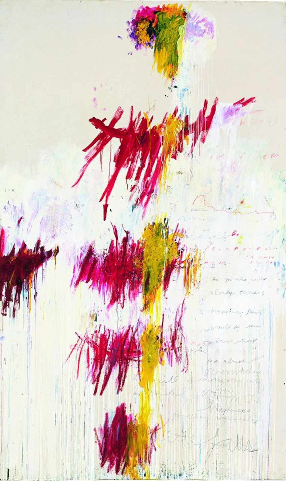 """Quattro Stagioni Primavera"", 1993-1995 de Cy TWOMBLY - Courtesy Tate, London"