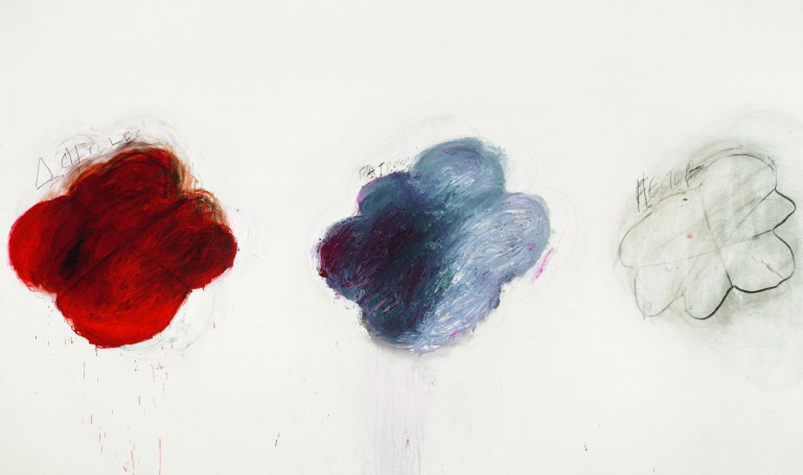 """Achilles Mourning the Death of Patroclus (Achille pleurant la mort de Patrocle)"", 1962 de Cy TWOMBLY"