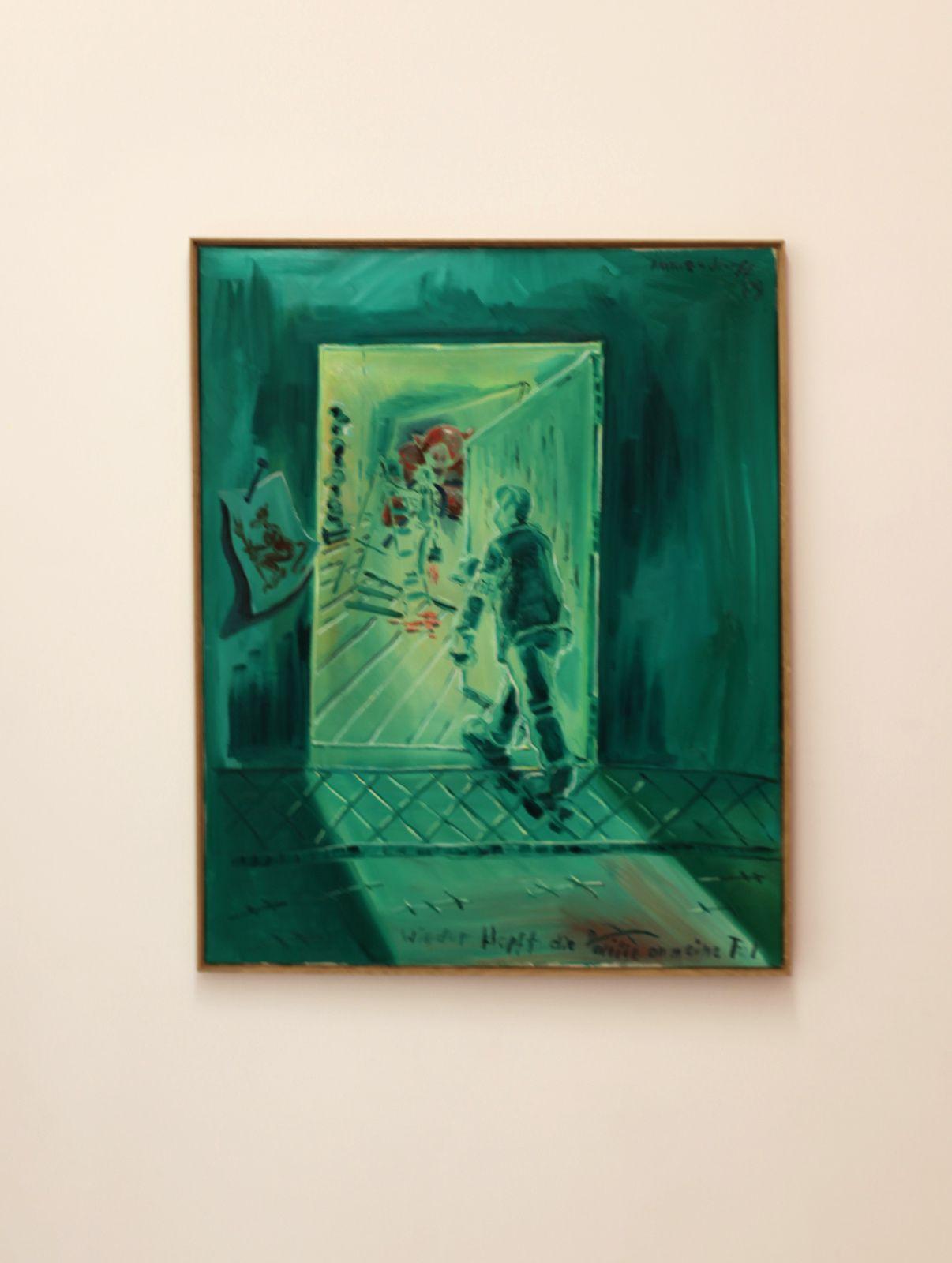 """""""Wieder Klopft die politik an meine Tür"""", 1989 de Jörg IMMENDORFF - Courtesy SUZANNE TARASIEVE PARIS  © Photo Éric Simon"""