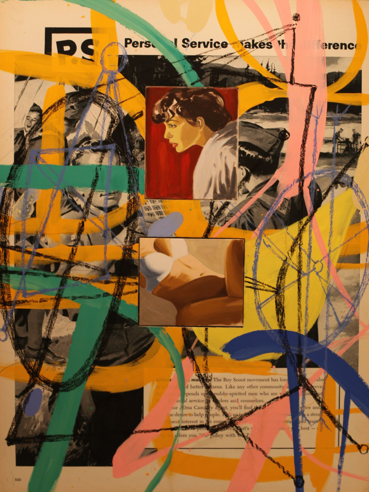 """Scouting"", 2016 de David SALLE - Courtesy Galerie ROPAC Paris © Photo Éric Simon"