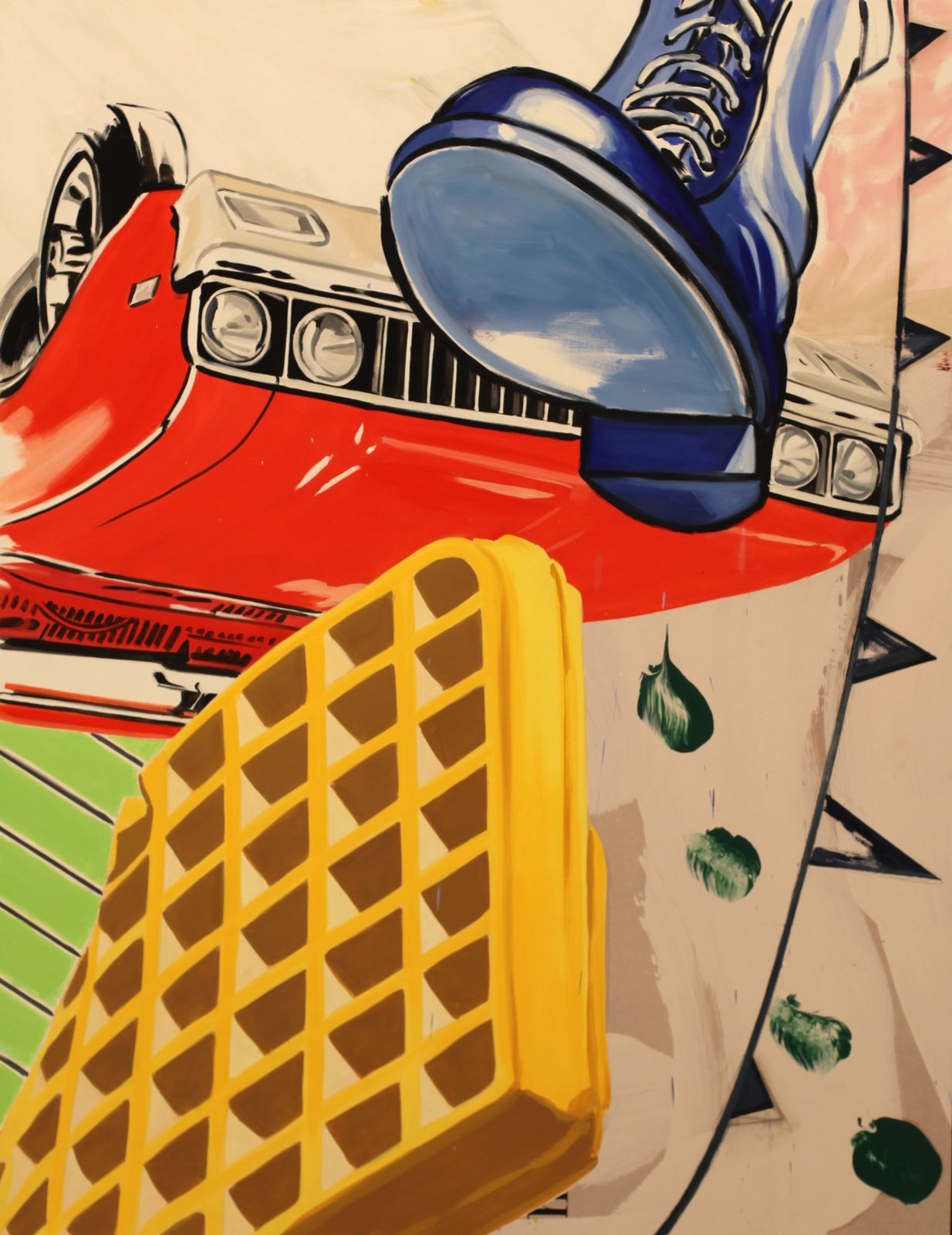 """Big Boot"", 2016 de David SALLE - Courtesy Galerie ROPAC Paris © Photo Éric Simon"