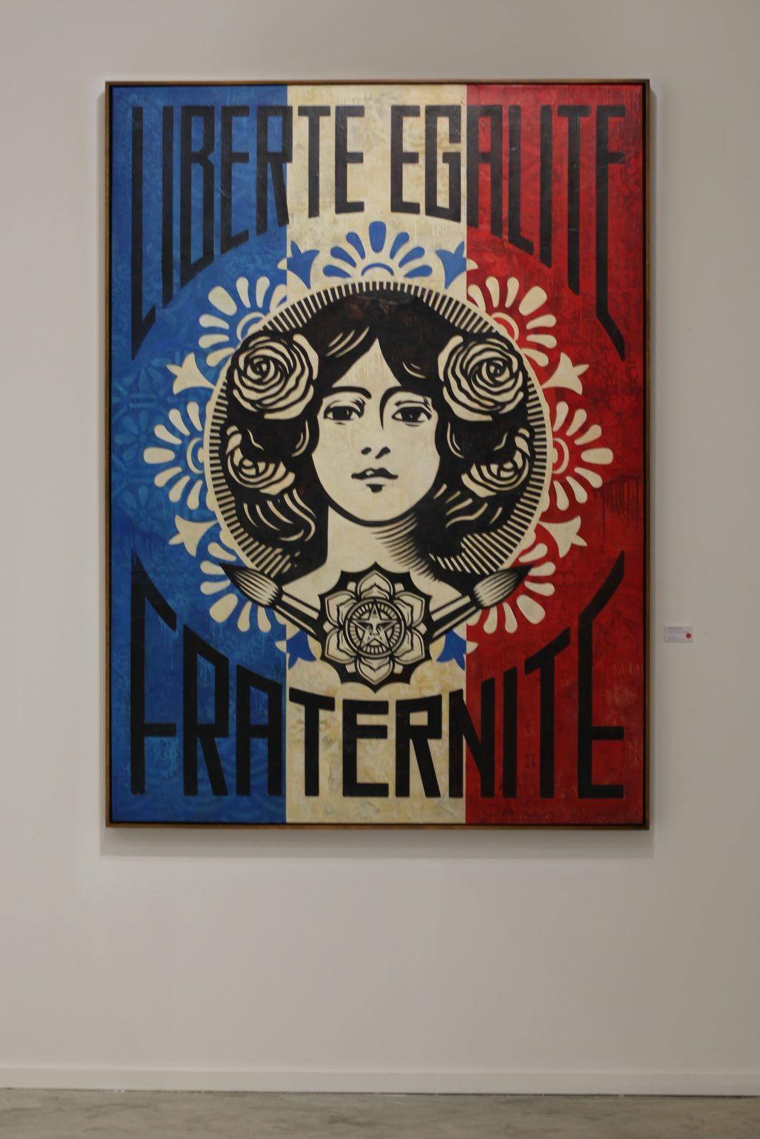 """""""Liberté, Égalité, Fraternité"""" de Shepard FAIREY - Courtesy Galerie Itinerrance © Photo Éric Simon"""