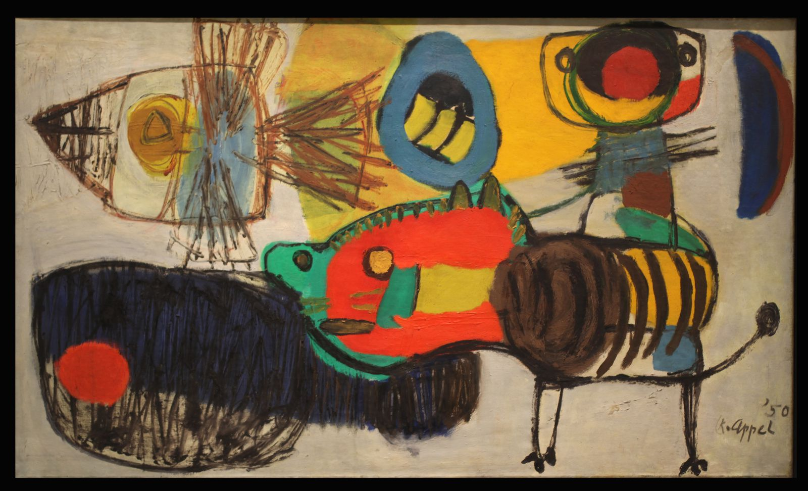 """Promenade"", 1950  de Karel APPEL - Courtesy Centre Pompidou © Photo Éric Simon"