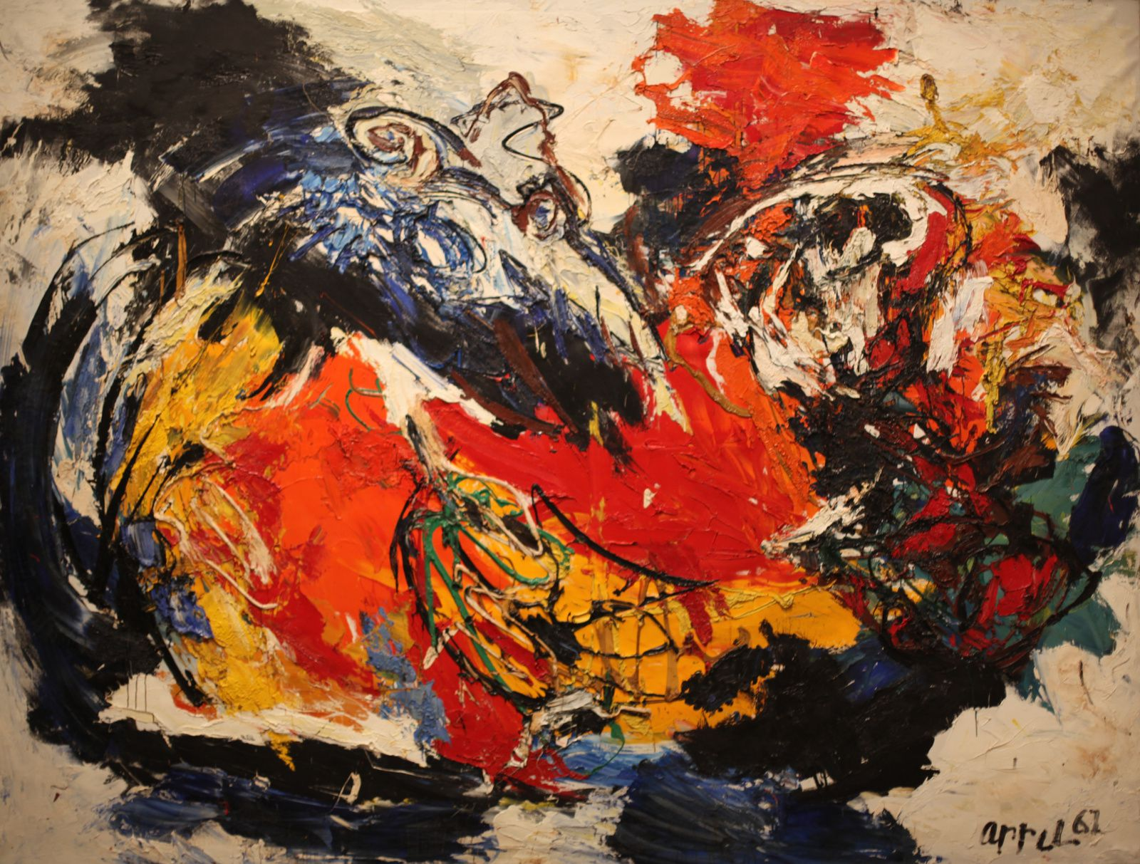 """Archaic Life"", 1961 de Karel APPEL - Courtesy Willem Sandberg © Photo Éric Simon"