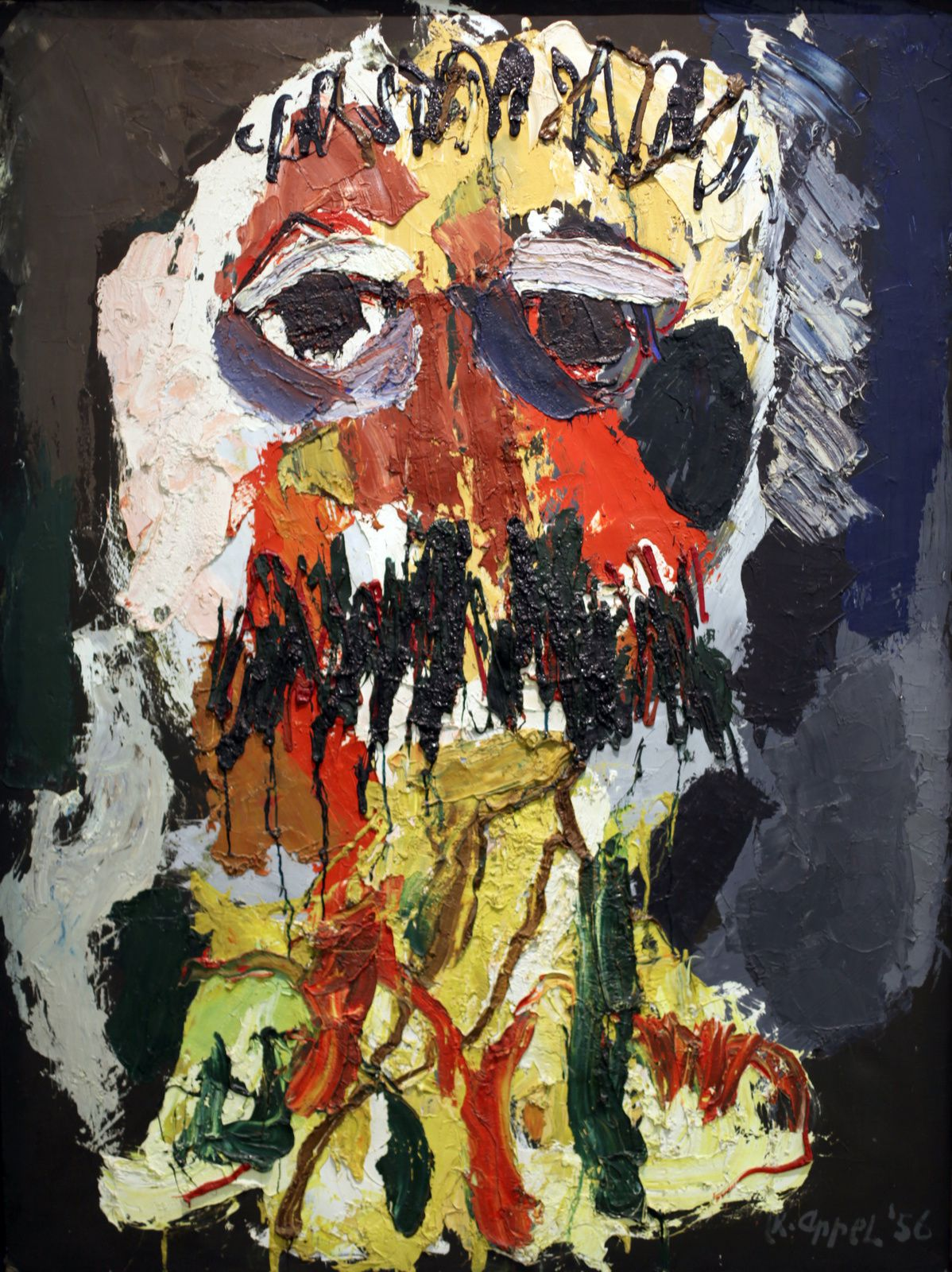 """Portrait de CÉSAR"", 1956 de Karel APPEL - Courtesy of Bard of Trustees of  National Museums © Photo Éric Simon"