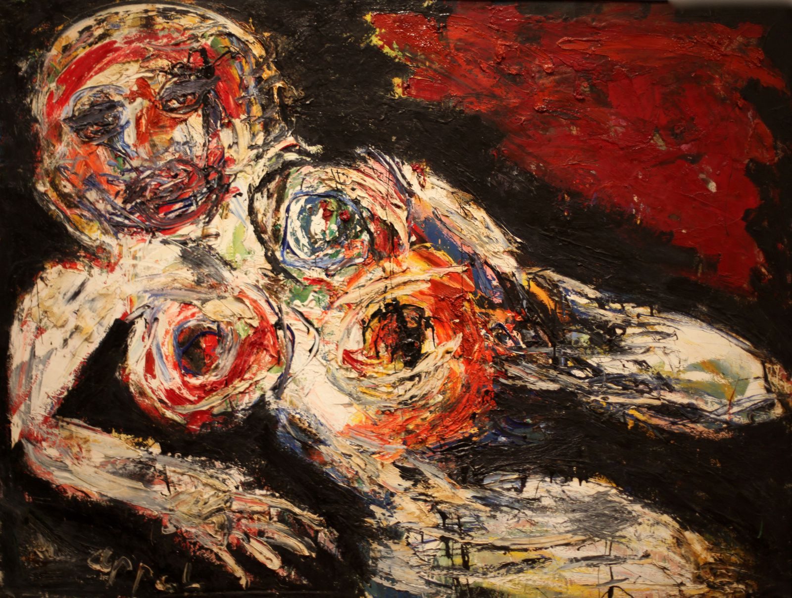 """Nu Blessé"", 1959  de Karel APPEL - Courtesy MAM © Photo Éric Simon"